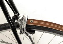 half-length fenders /  amerikan oak - two stripes